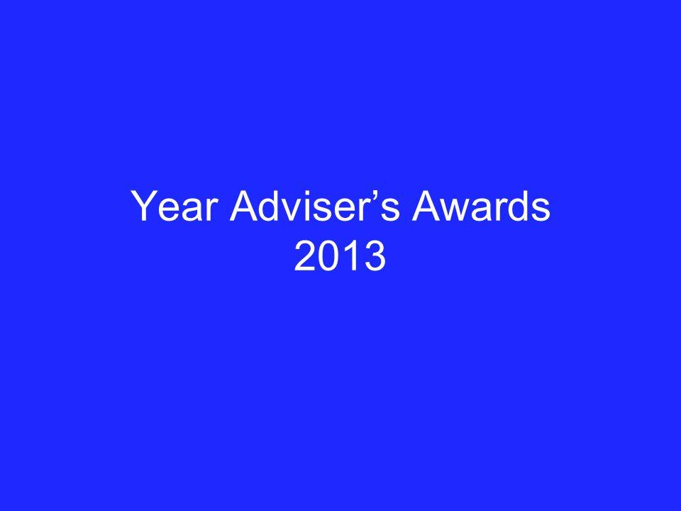 Year Adviser's Awards 2013