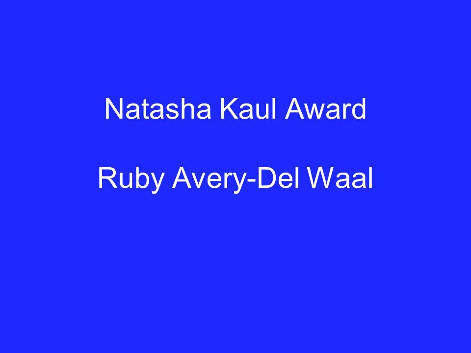 Natasha Kaul Award Ruby Avery-Del Waal