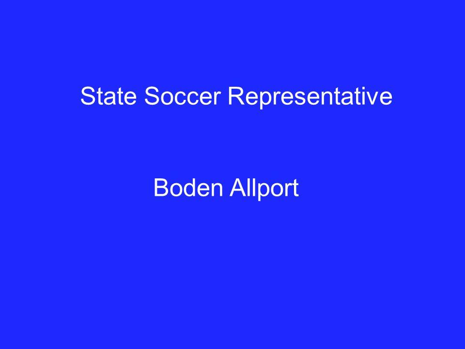 State Soccer Representative