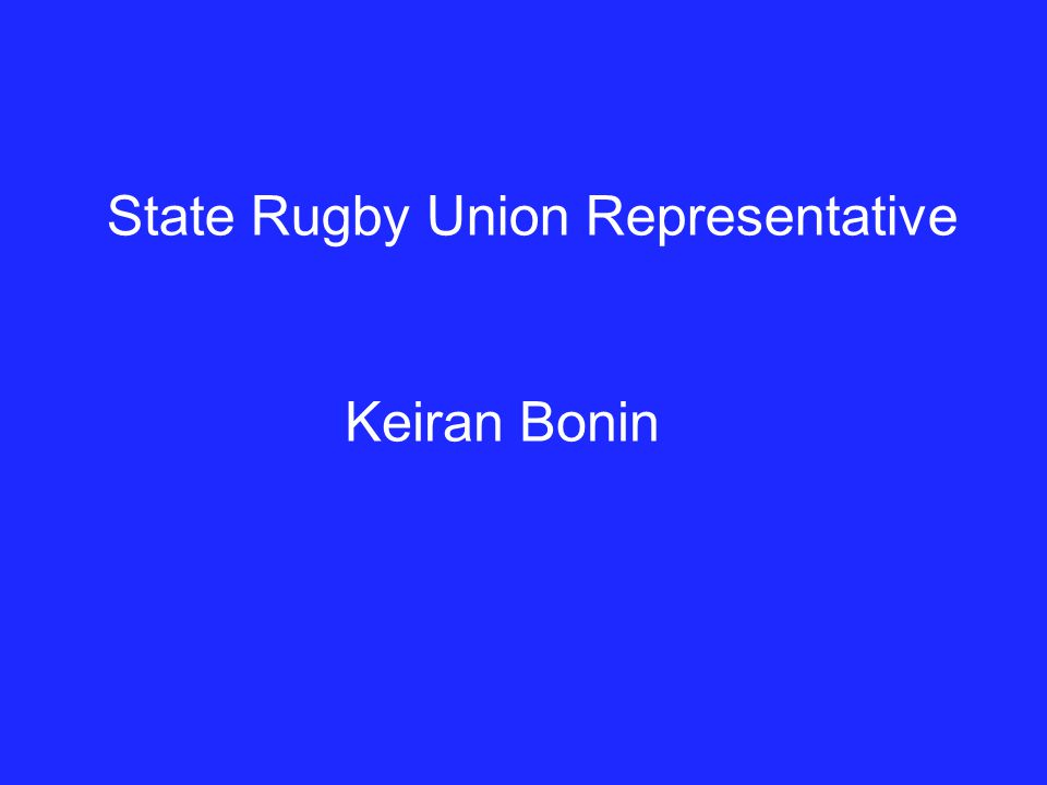 State Rugby Union Representative