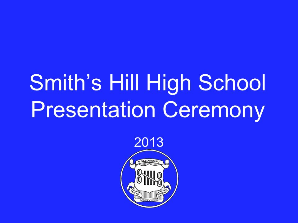 Smith's Hill High School Presentation Ceremony