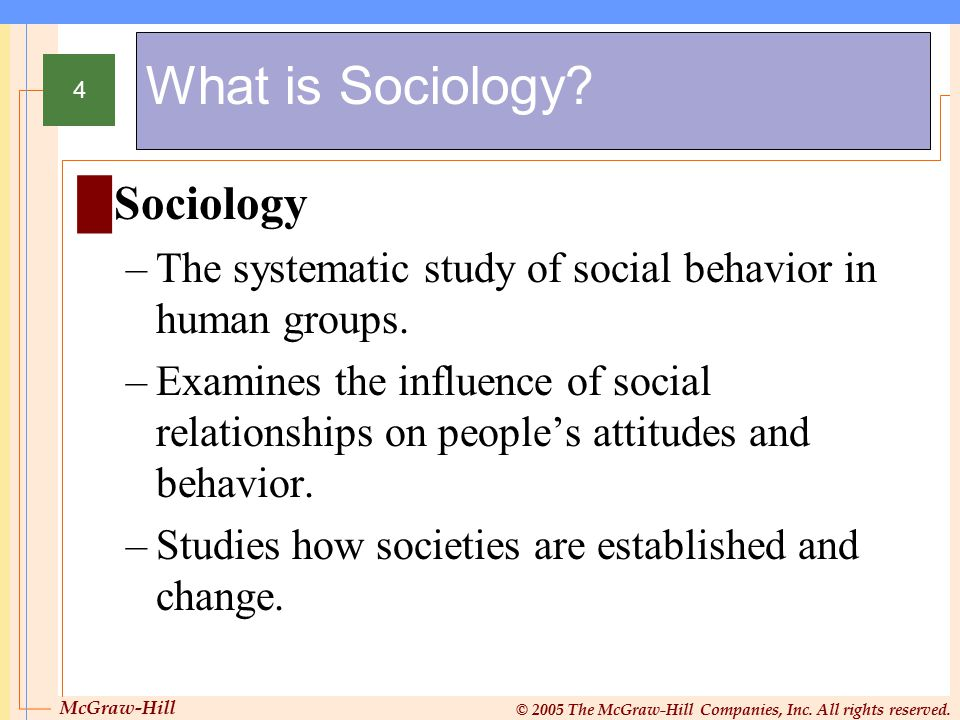 What is Sociology Sociology