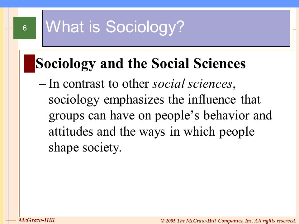 What is Sociology Sociology and the Social Sciences