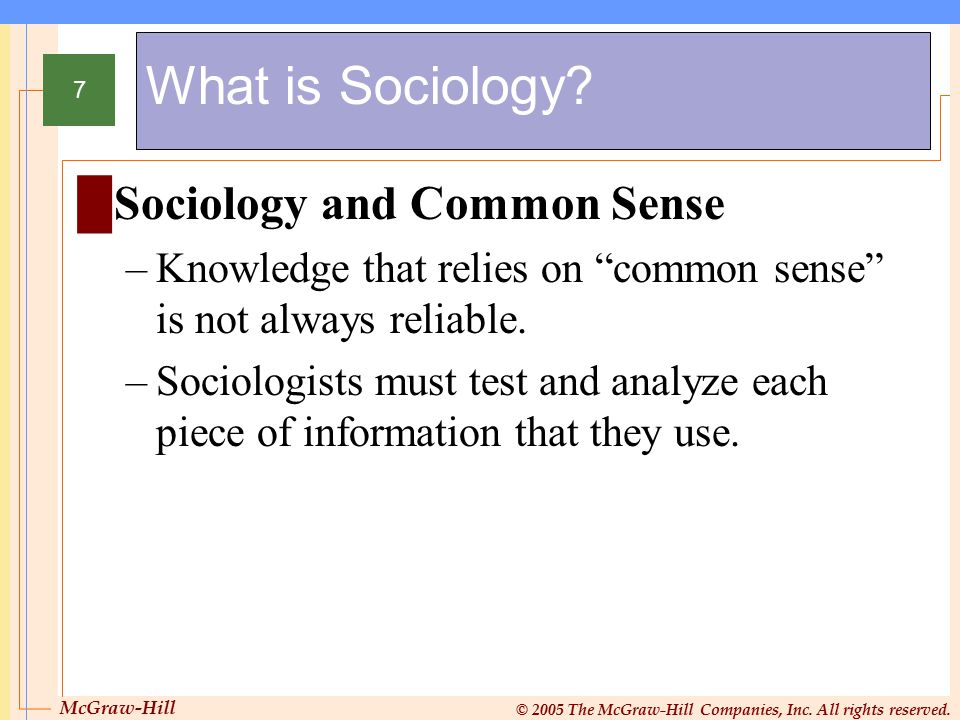 What is Sociology Sociology and Common Sense