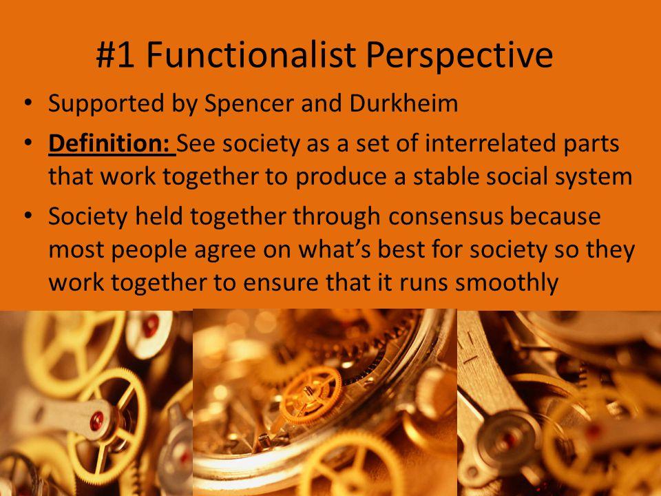 #1 Functionalist Perspective
