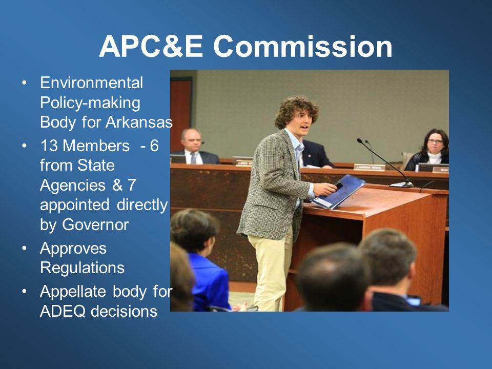 APC&E Commission Environmental Policy-making Body for Arkansas