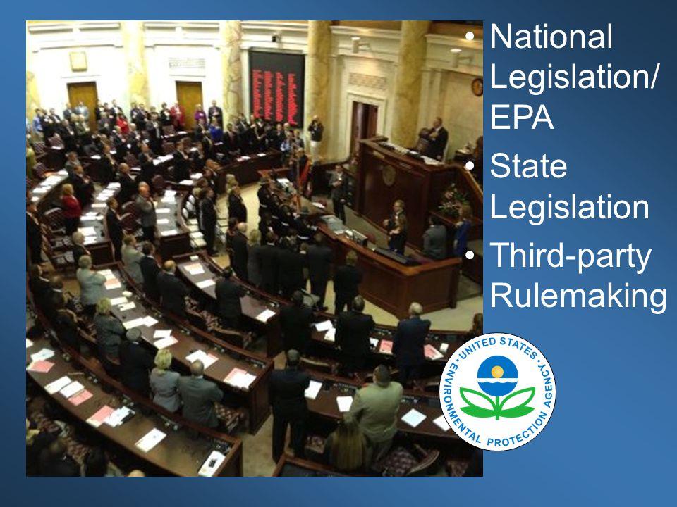 Regulations National Legislation/ EPA State Legislation