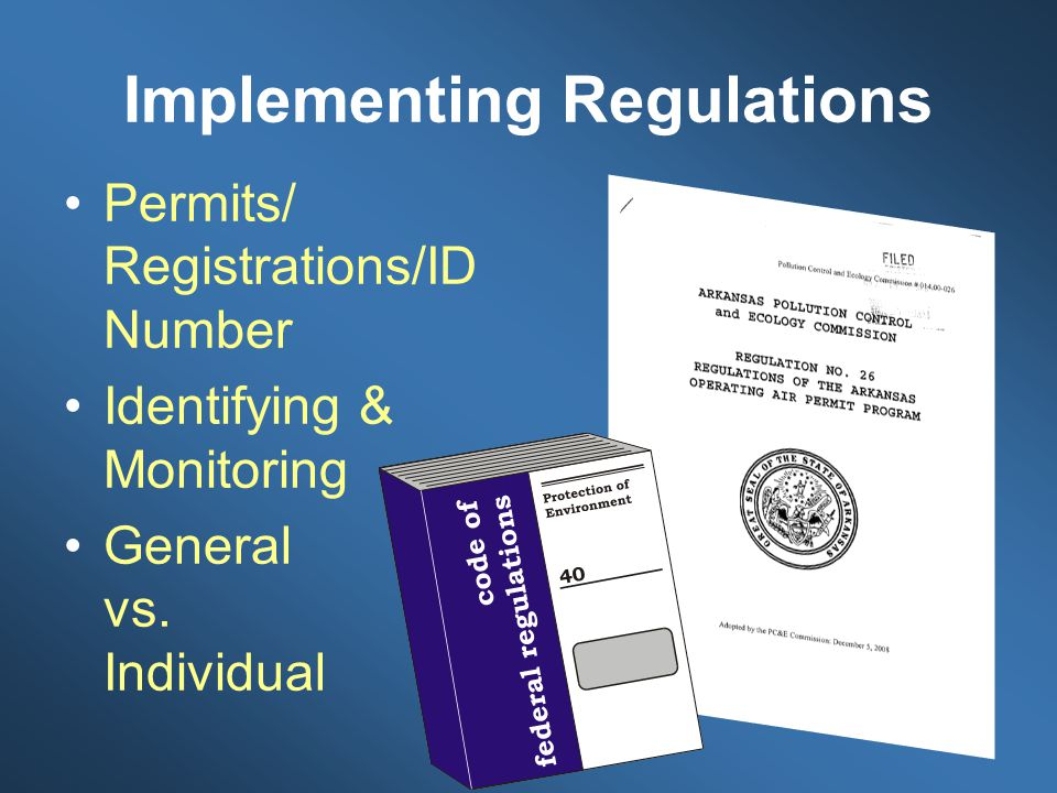 Implementing Regulations
