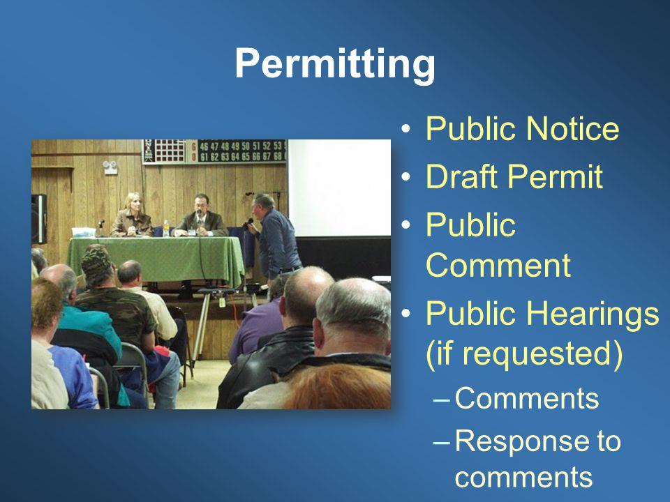 Permitting Public Notice Draft Permit Public Comment