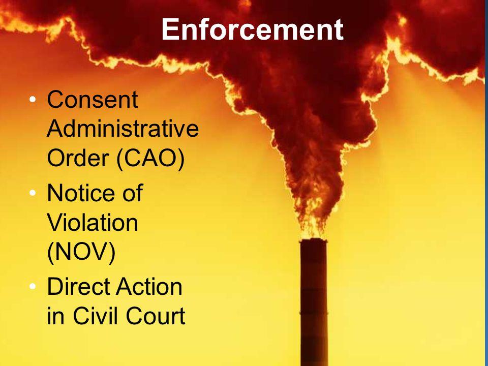 Enforcement Enforcement Options