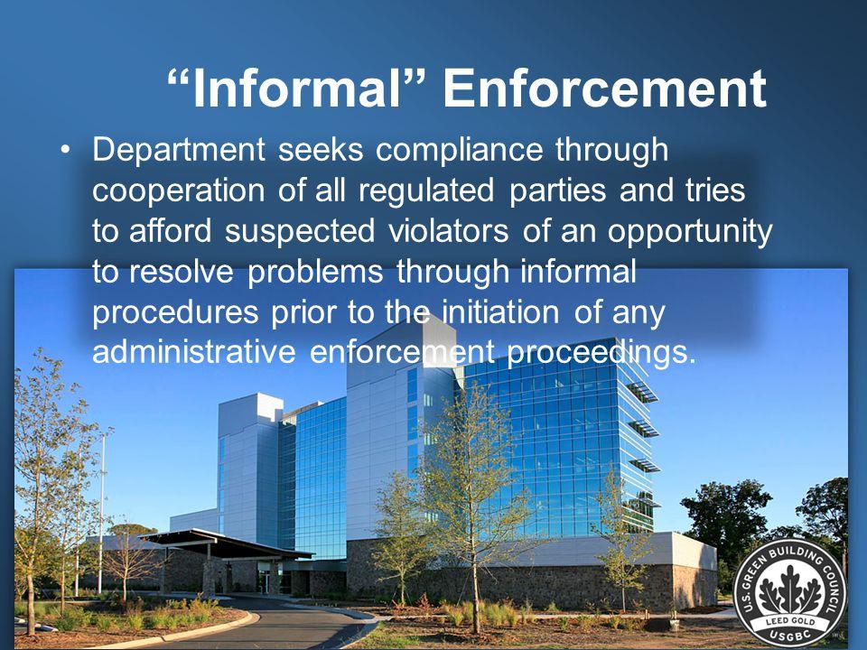 Informal Enforcement