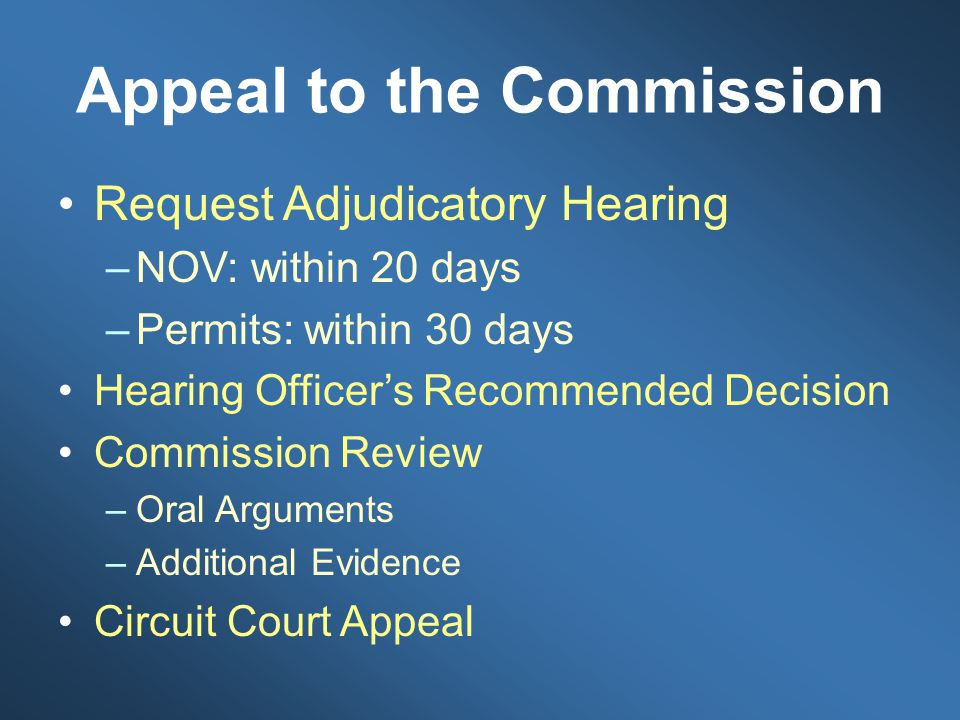 Appeal to the Commission