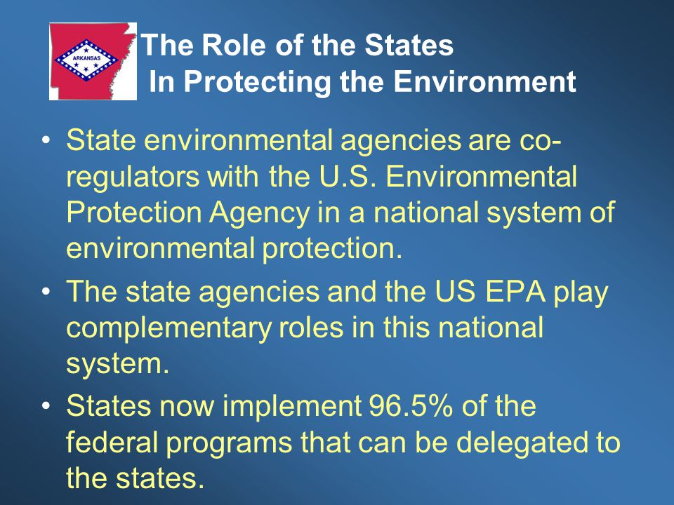 The Role of the States In Protecting the Environment