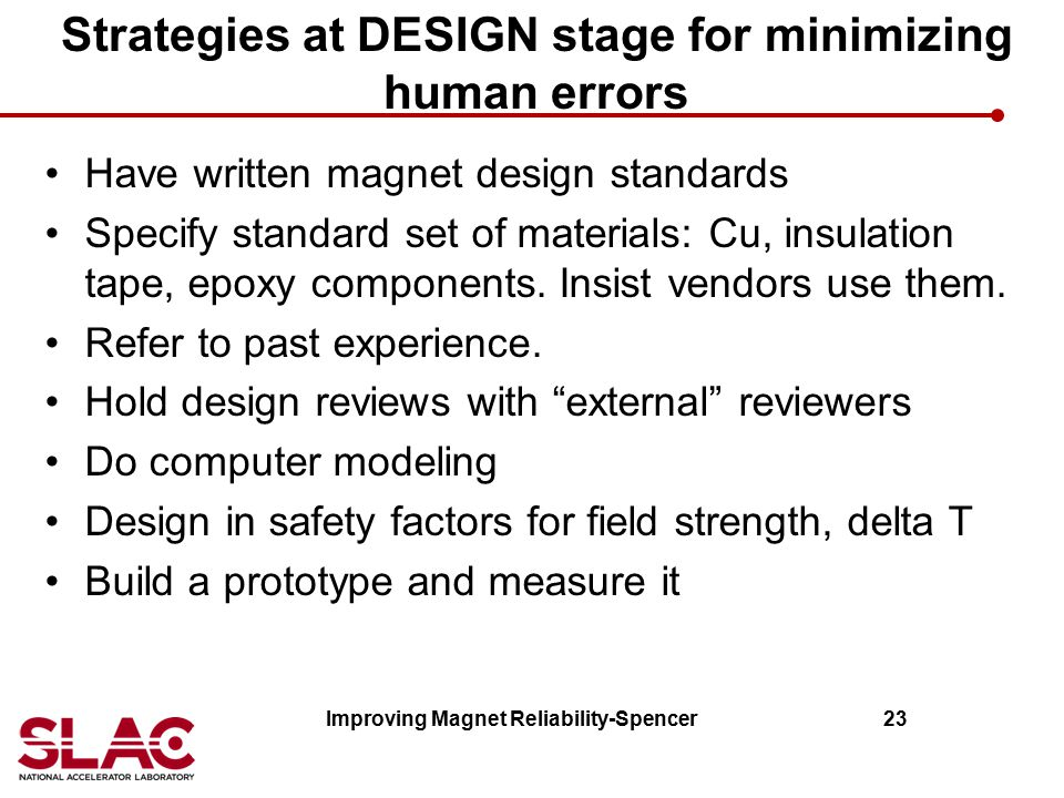 Strategies at DESIGN stage for minimizing human errors
