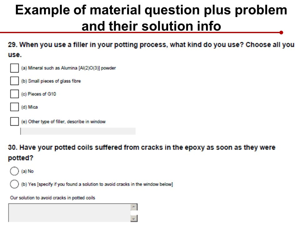 Example of material question plus problem and their solution info