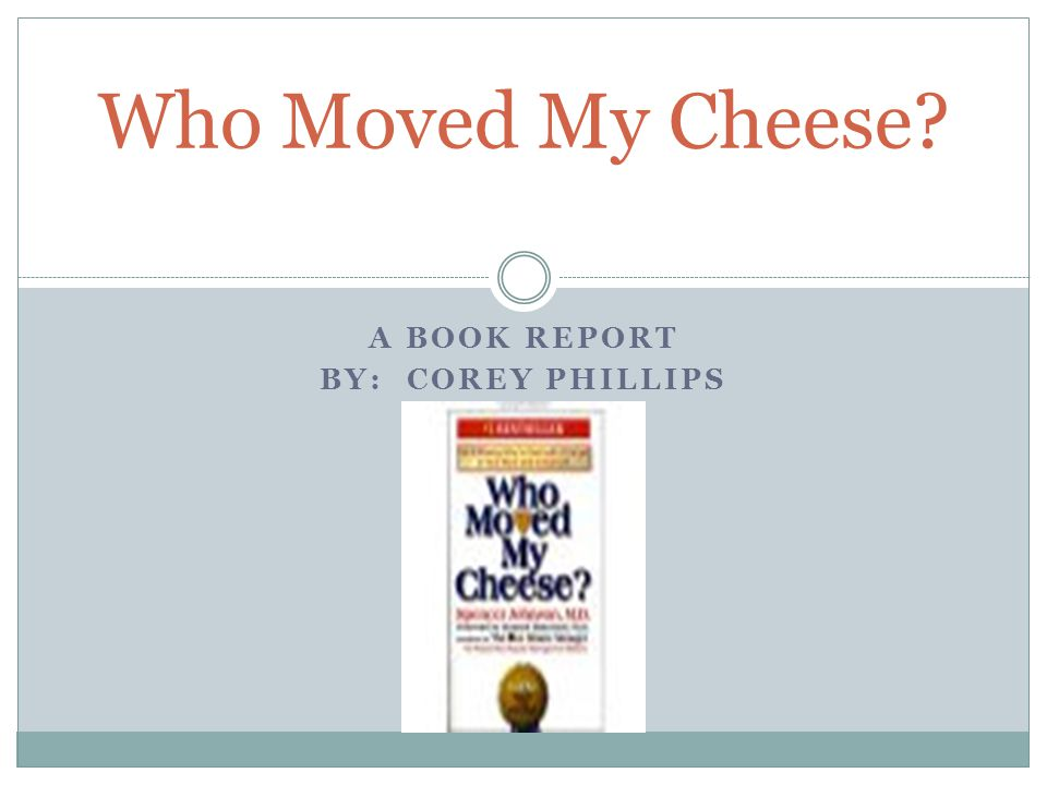 A book report By: Corey Phillips