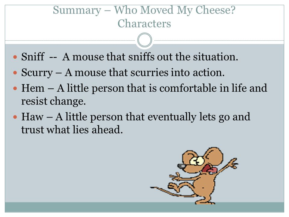 Who Moved My Cheese Quotes Captivating A Book Report By Corey Phillips  Ppt Download