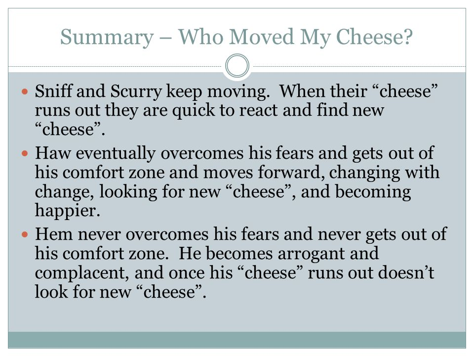 Who Moved My Cheese Quotes Amusing A Book Report By Corey Phillips  Ppt Download