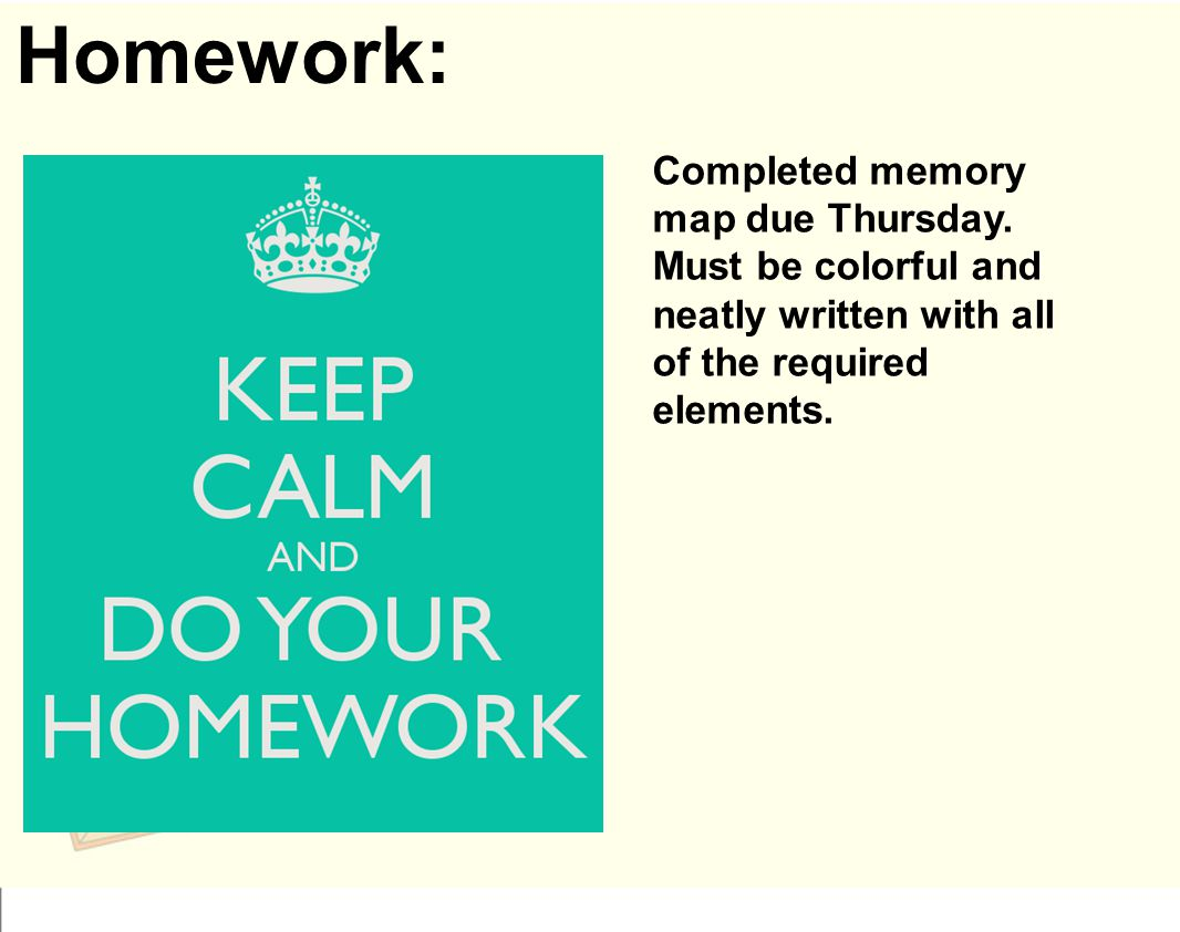 Homework: Completed memory map due Thursday.
