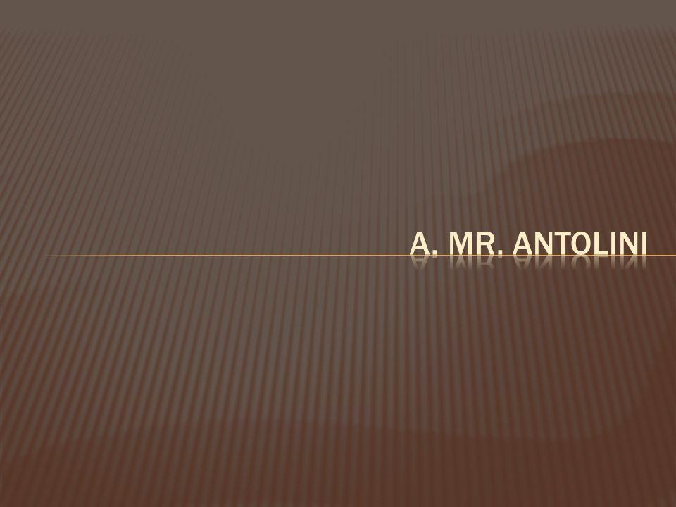 a. Mr. Antolini