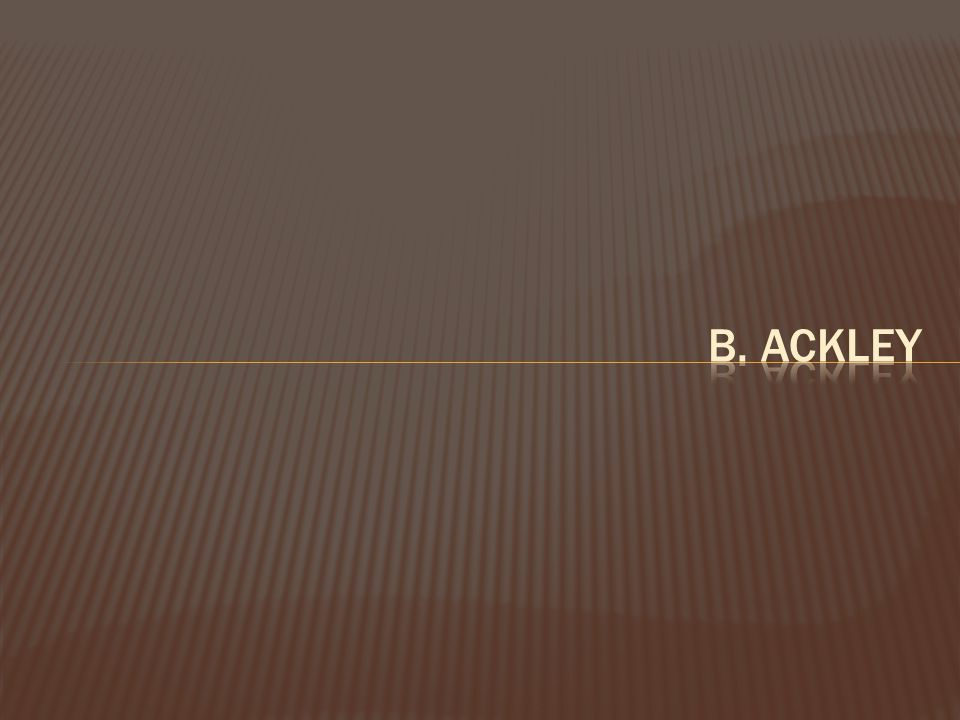 b. Ackley