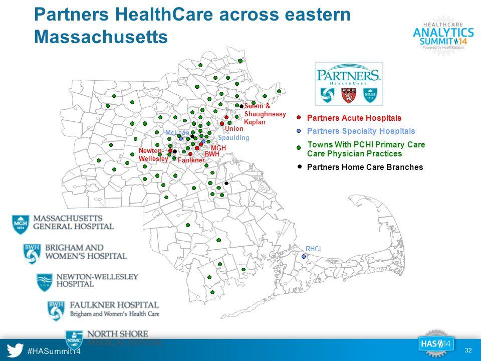 Partners HealthCare across eastern Massachusetts
