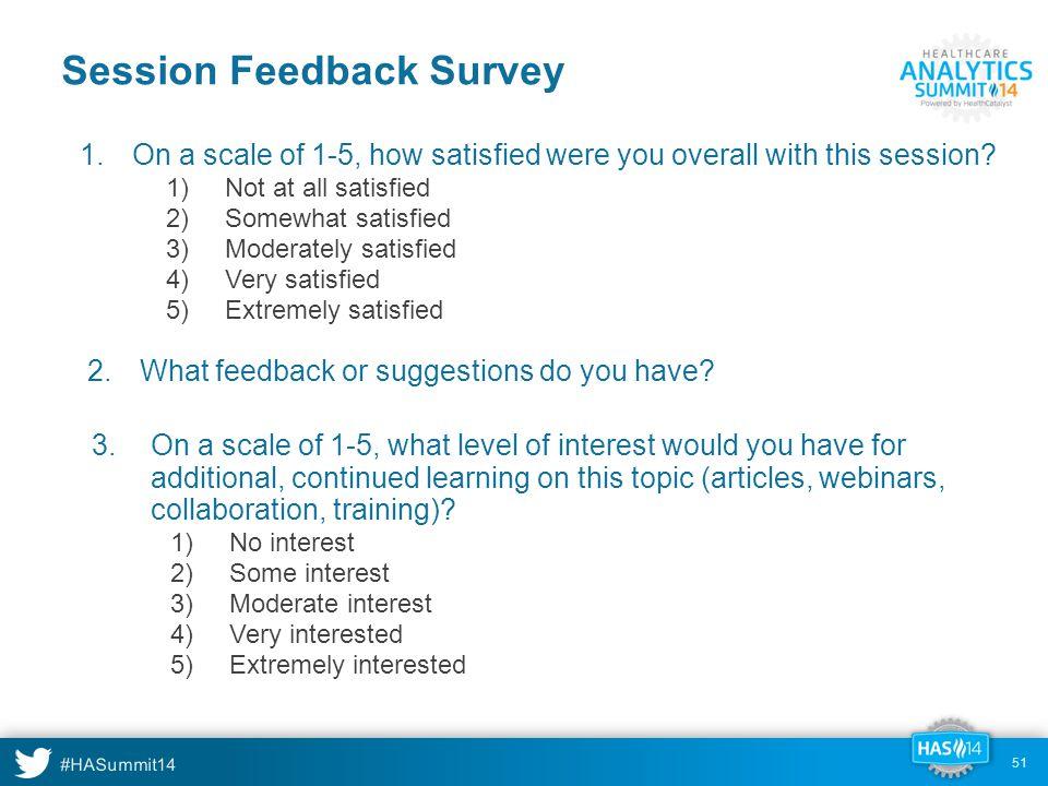 Session Feedback Survey