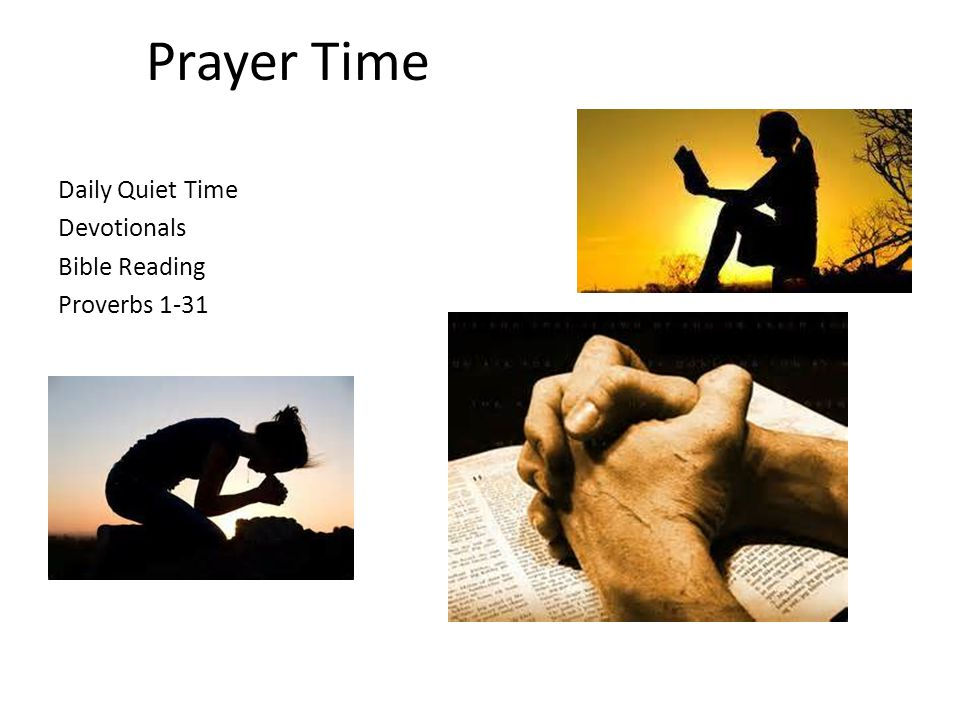 Prayer Time Daily Quiet Time Devotionals Bible Reading Proverbs 1-31