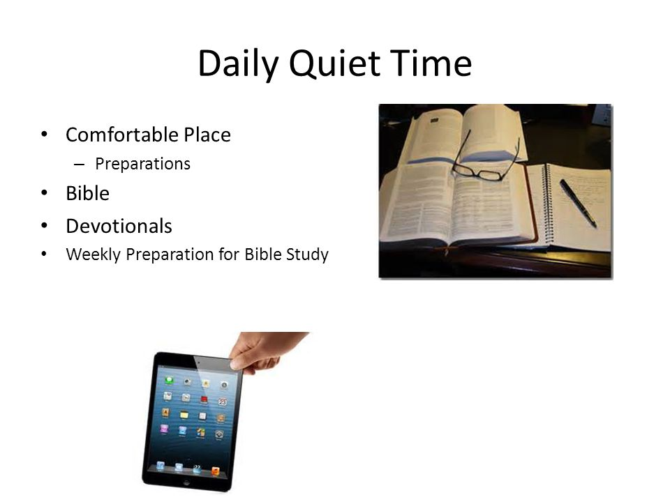 Daily Quiet Time Comfortable Place Bible Devotionals Preparations
