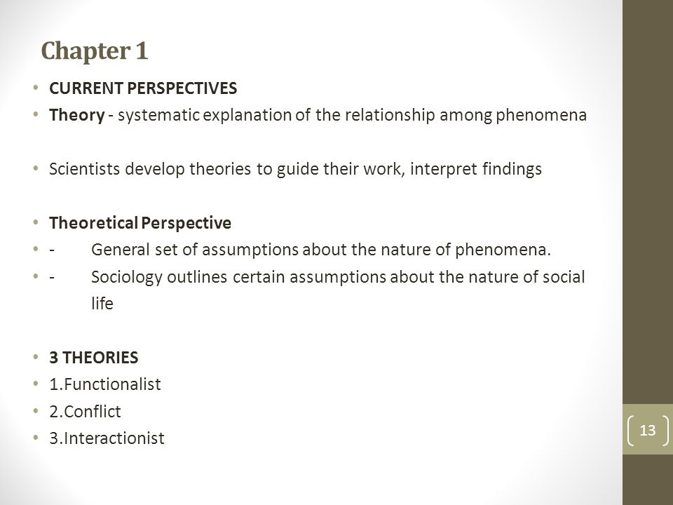 Chapter 1 CURRENT PERSPECTIVES