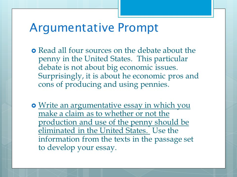 argumentative essay with sources Evidence: the inferences you have drawn from the primary sources  supplemented  note: attached is a sample basic argumentative essay for your  reference.