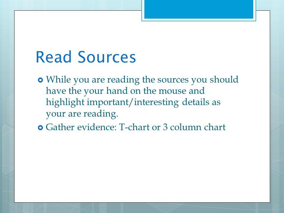 Read Sources