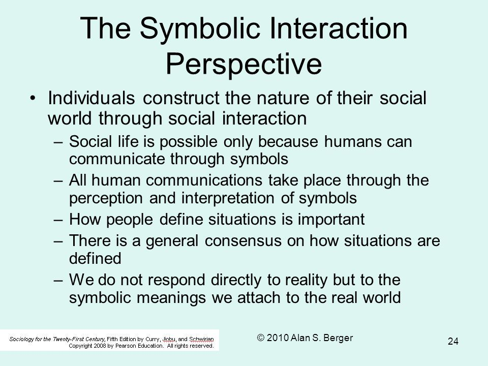 The Symbolic Interaction Perspective