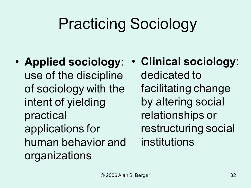 Practicing Sociology