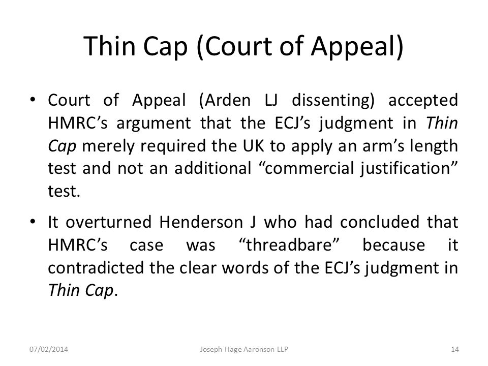 Thin Cap (Court of Appeal)