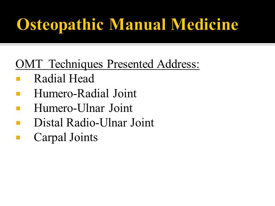 Osteopathic Manual Medicine