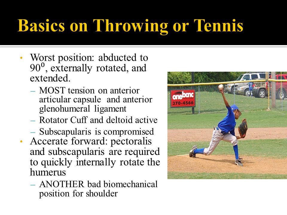 Basics on Throwing or Tennis