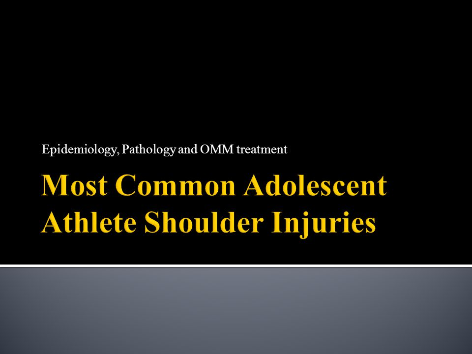 Most Common Adolescent Athlete Shoulder Injuries