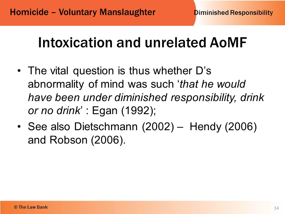 Intoxication and unrelated AoMF