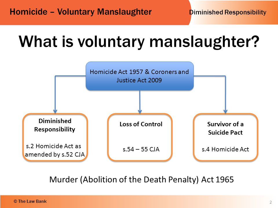 What is voluntary manslaughter