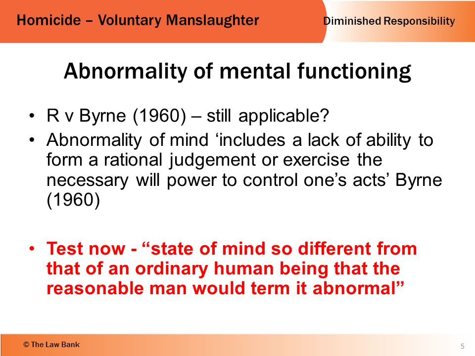 Abnormality of mental functioning