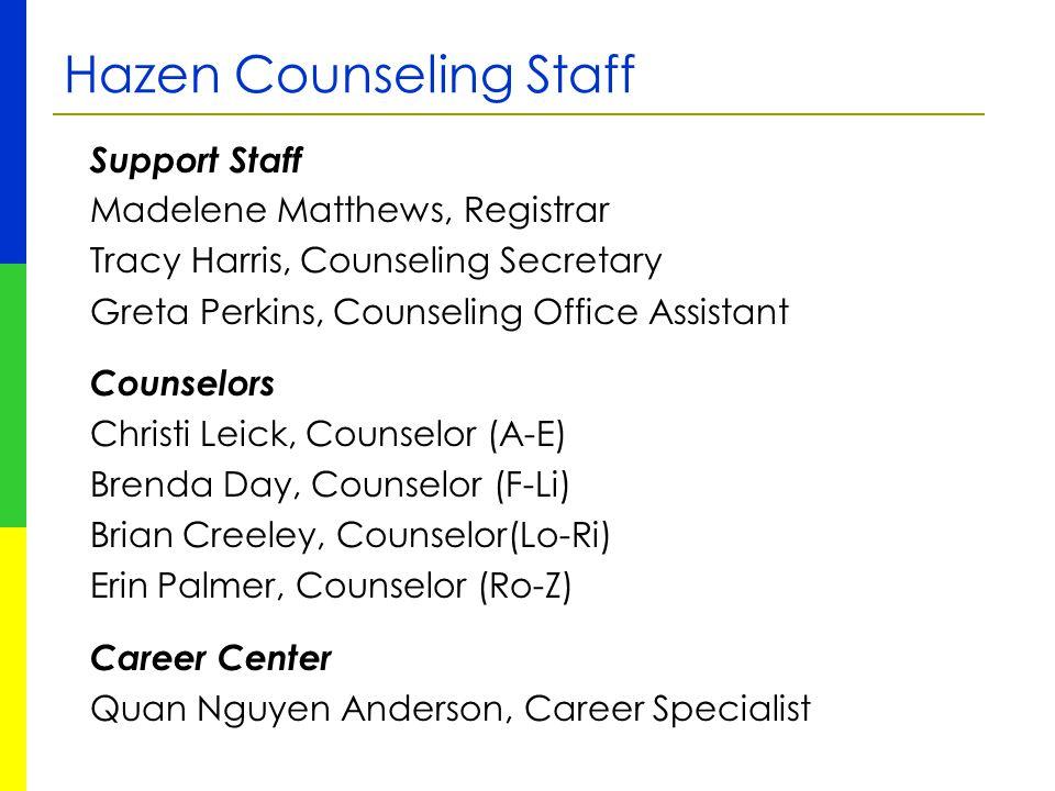 Hazen Counseling Staff