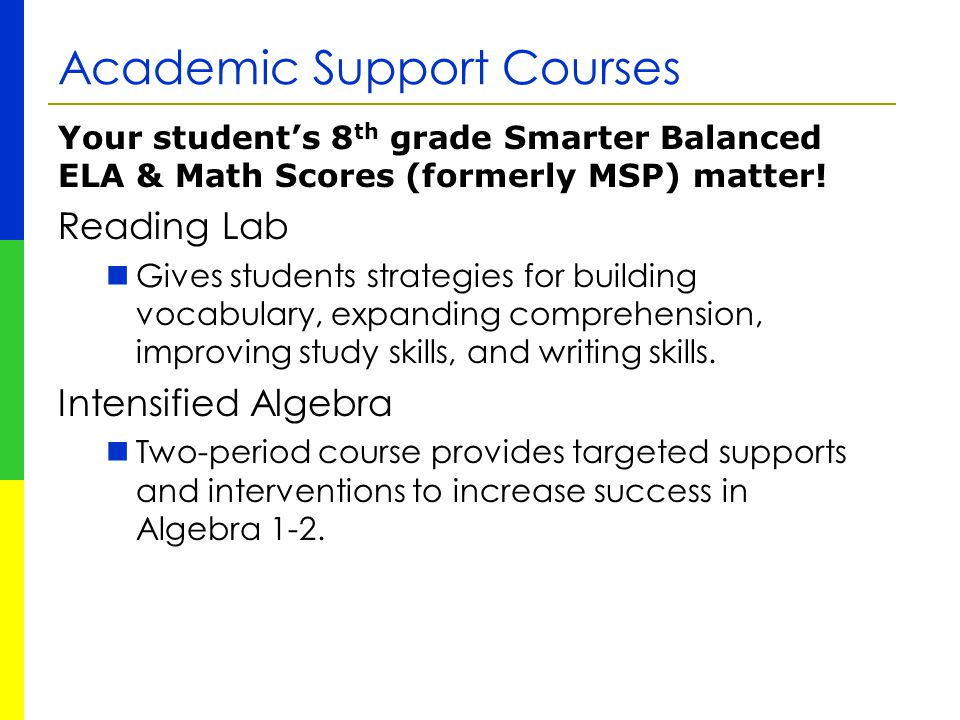Academic Support Courses
