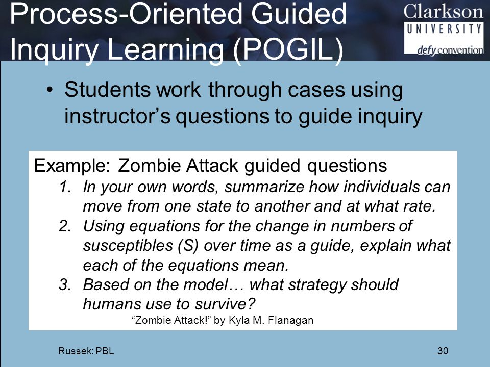 Process-Oriented Guided Inquiry Learning (POGIL)