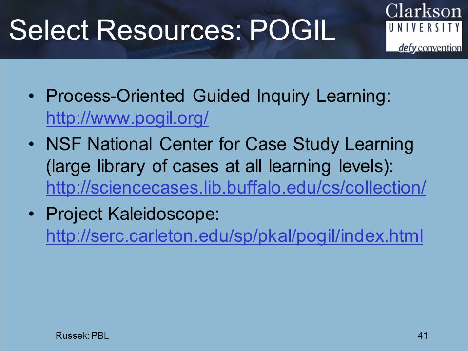 Select Resources: POGIL