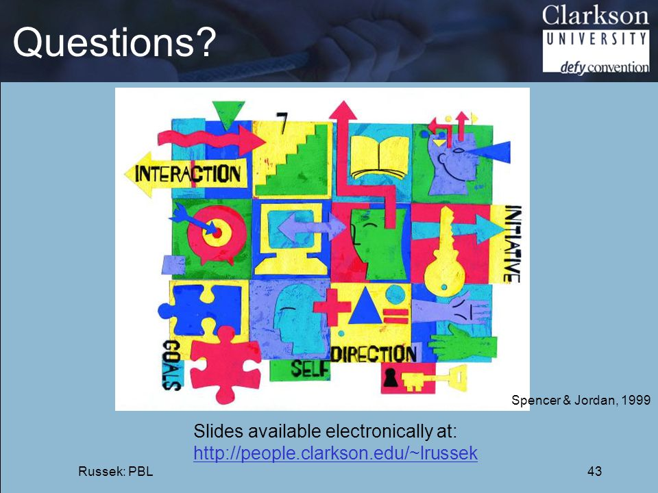 Questions Slides available electronically at: