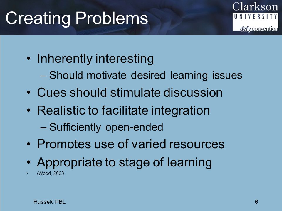 Creating Problems Inherently interesting
