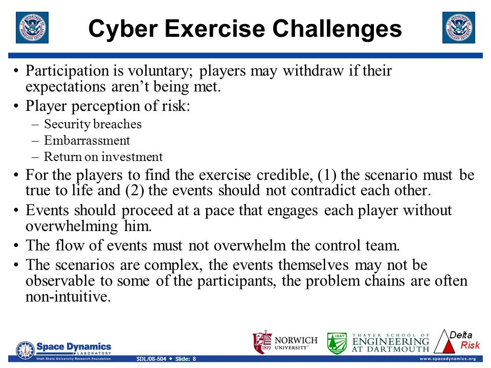 Cyber Exercise Challenges