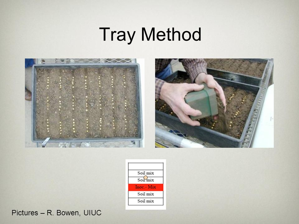 Tray Method Pictures – R. Bowen, UIUC