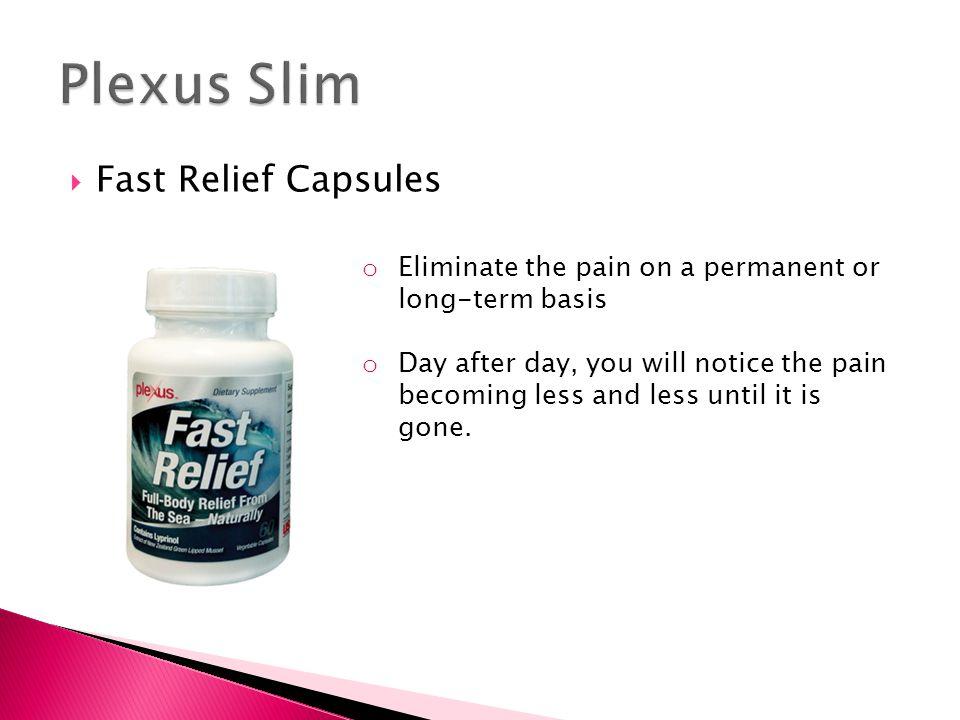 Plexus Slim Fast Relief Capsules